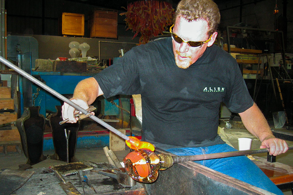 Picture of glassblower