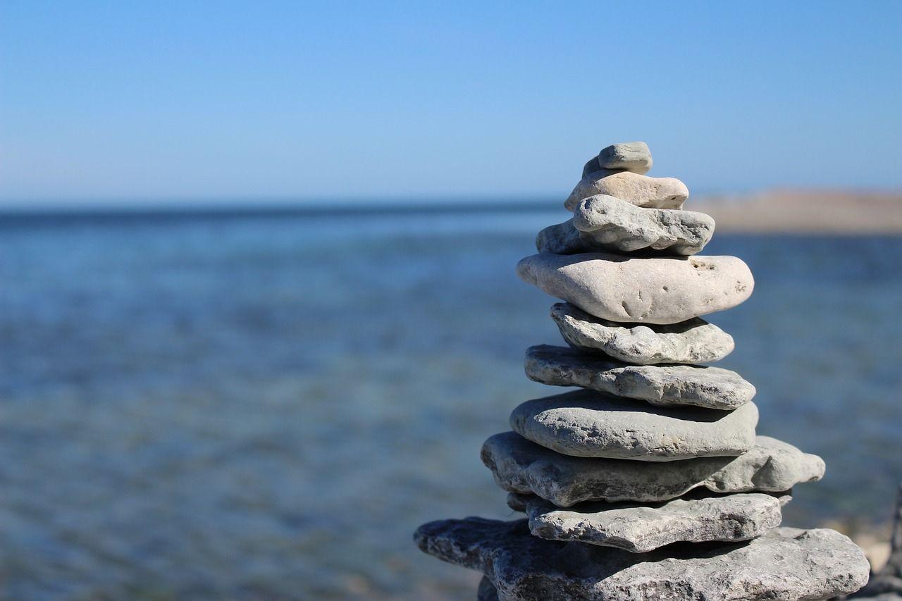 Pile of balanced rocks